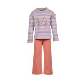 Meisjes-Dames pyjama, veelkleurig gestreept  201-1-PLG-S/900