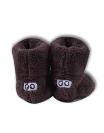 Woody pantoffels bruin met ogen 192-3-BOO-M/290