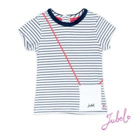 T-shirt gestreept met handtas-jubel