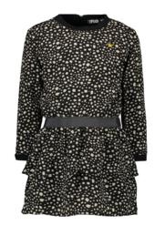 zwarte bollen kleedje- FLO meisjes