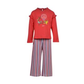 Meisjes-Dames pyjama, rood 201-1-PLG-S/426