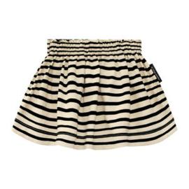 stripe- nude skirt