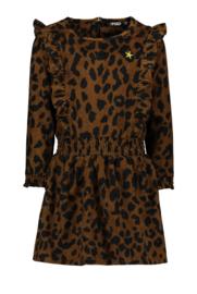animal ruffle jurk- FLO meisjes