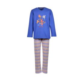Jongens-Heren pyjama, koningsblauw 201-1-PLS-S/875
