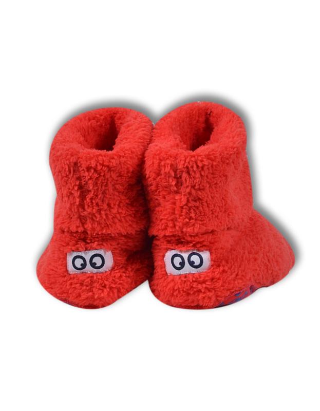 Woody pantoffels rood met ogen 192-3-BOO-M/452