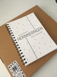 Herinneringenboek Zwart / Wit Licht beschadigd