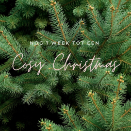 Nog 1 week tot een cosy christmas