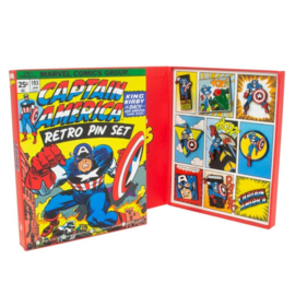Captain America Marvel Retro Pin Set