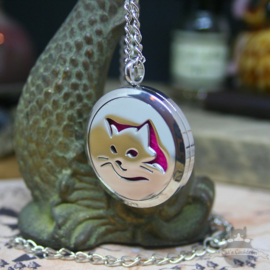 Cat head diffuser necklace for aroma therapy Large