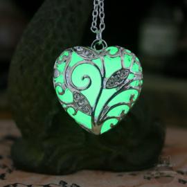 Leuchtende Elfen Halskette Valentinstag Herz