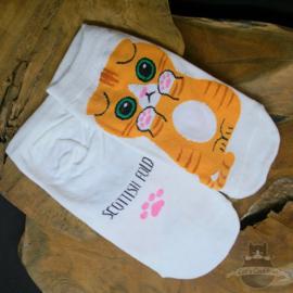 White sneaker socks Scottish Fold cat size 35-40