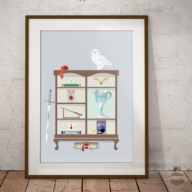 Harry Potter inspired cabinet art print A3 poster