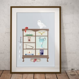 Harry Potter geïnspireerd kabinet art print poster A3
