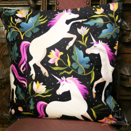 Unicorns with flowers fantasy pillowcase