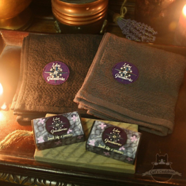 Lilac & Gooseberries giftset Witcher soap with guest towels