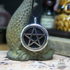 Pentagram necklace for aroma therapy black