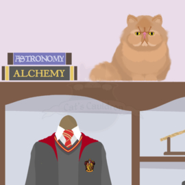 Hermione Granger art print poster Harry Potter inspired