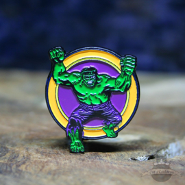 The Incredible Hulk pin Marvel Comics retro circle