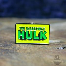 The Incredible Hulk pin Marvel Comics retro logo