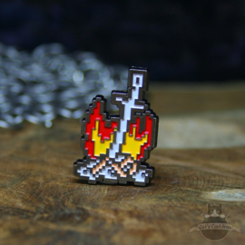 Dark Souls Pin Bonfire Sword Firelink Shrine