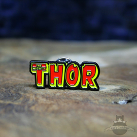 THE MIGHTY THOR Pin Marvel Comics retro Logo