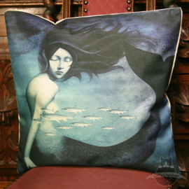 Mermaid with a school of fish pillowcase