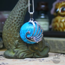 Feniks natuursteen ketting Turquoise