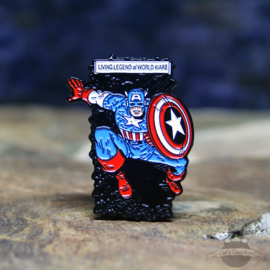 Captain America Pin Marvel Comics Living Legend