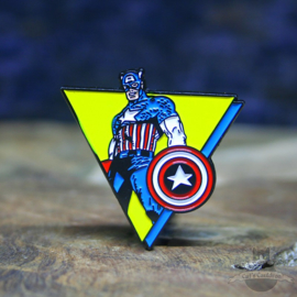 Captain America Pin Marvel Comics retro Dreieck