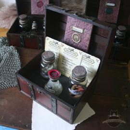 Witcher potion set Werewolf Hide, Gargoyle Dust, Foglet Teeth