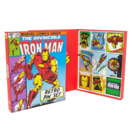 Iron Man Marvel Retro Pin Set
