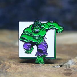 The Incredible Hulk pin Marvel Comics retro square