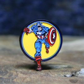 Captain America Pin Marvel Comics retro Kreis