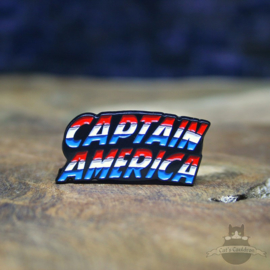 Captain America Pin Marvel Comics retro Logo