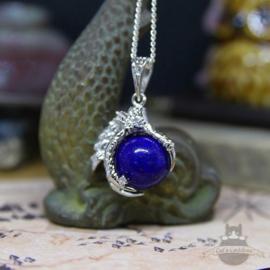 Drakenklauw ketting met bol Lapis Lazuli