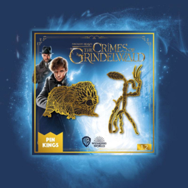 Harry Potter Fantastic Beasts Official Pin Set 1.2 Baby Niffler Bowtruckle