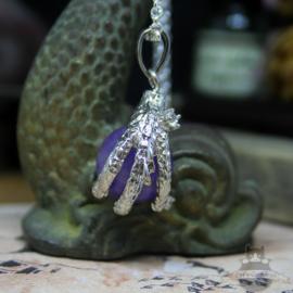 Drachenklau Halskette Natursteinkugel Amethyst