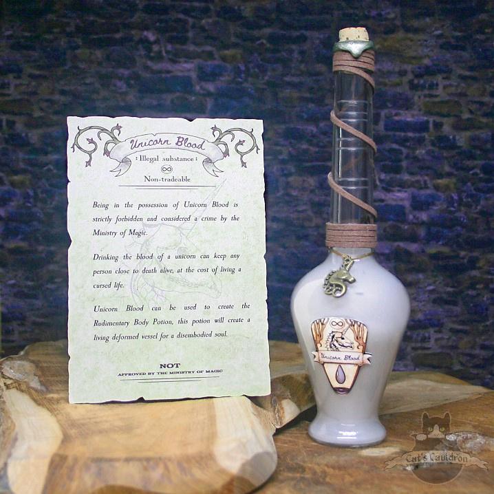 Unicorn Blood potion bottle