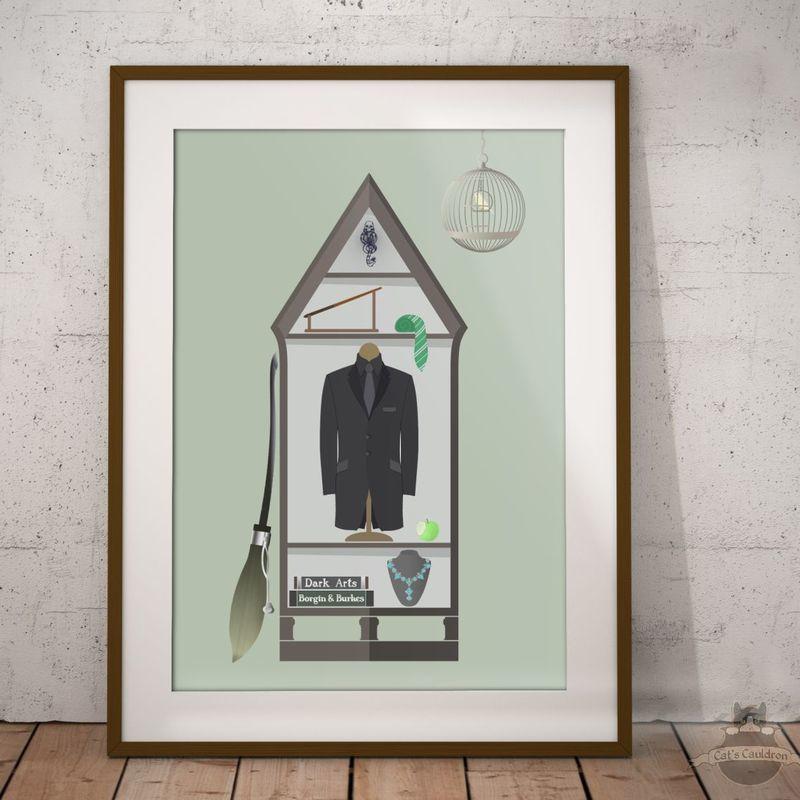 Draco Malfoy art print poster Harry Potter inspired