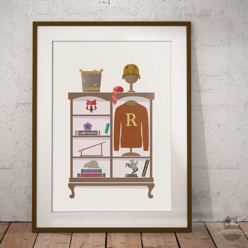 Ron Weasley art print poster Harry Potter geïnspireerd