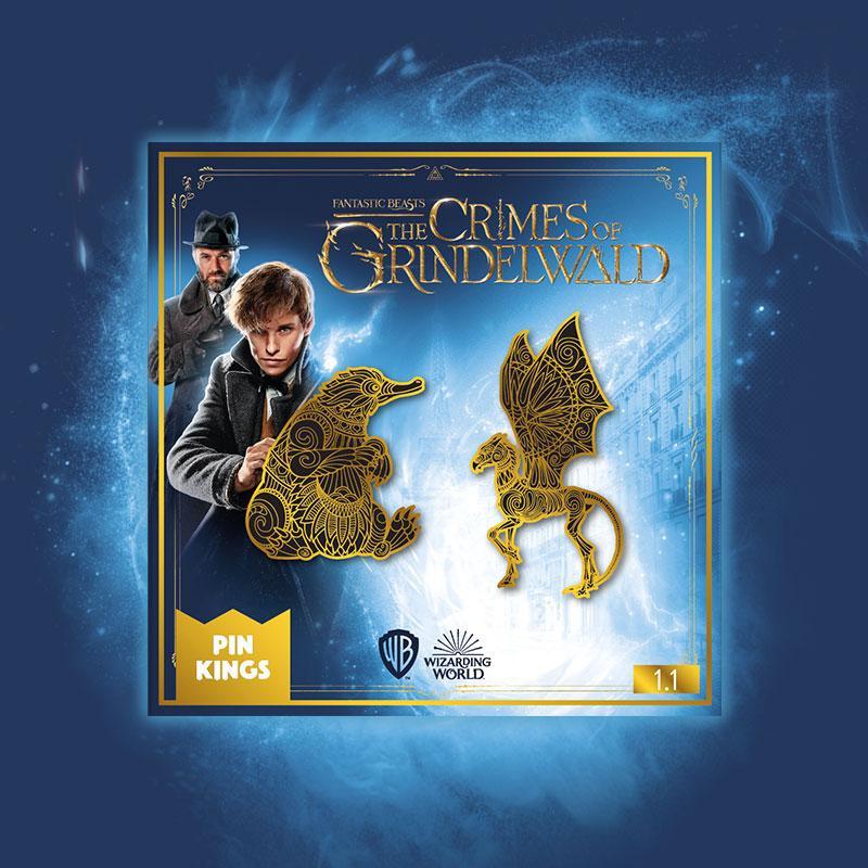Harry Potter Fantastic Beasts Offizielles Pin Set 1.1 Niffler Thestral