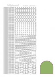 Hobbydots sticker nr 2 - Mirror - Lime