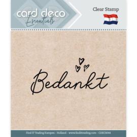 Card Deco Essentials - Clear Stamps - Bedankt  CDECS044