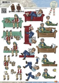 CD10341 3D Knipvel - Yvonne Creations - Men - Couch