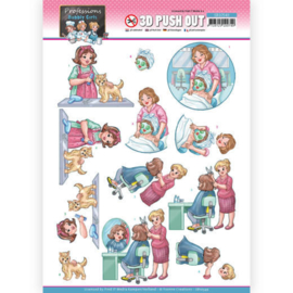 3D Push Out - Yvonne Creations - Bubbly Girls Professions - Beautician  SB10549