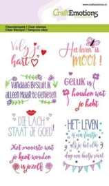 CraftEmotions clearstamps A6 - Quotes - volg je hart, ... (NL) 1332