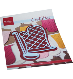 LR0707 - Oven mitt & spoon  2 pcs, 58 x 80 mm, 36 x 86 mm