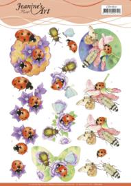 3D Cutting Sheet - Jeanine's Art - Ladybug  CD11601