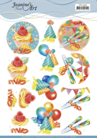 3D Cutting Sheet - Jeanine's Art - Happy Birthday  CD11596