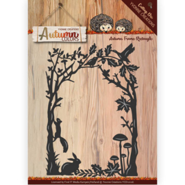 Die - Yvonne Creations - Autumn Colors- Frame rectangle  YCD10106